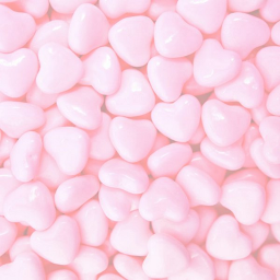 freetoedit background aesthetic pink candy heart pieces