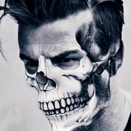 freetoedit skull twoface man edit ecdoubleface