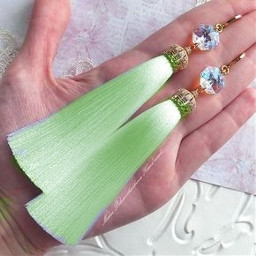 haircolor freetoedit tassels earrings green