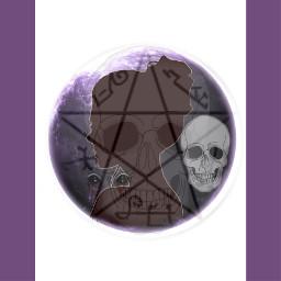 freetoedit love skulls shadowgirl moon