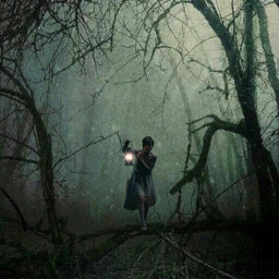 freetoedit forest forestgirl doubleexposure allpicsart