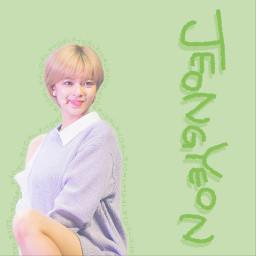 twice jeongyeon twicejeongyeon lightgreen freetoedit