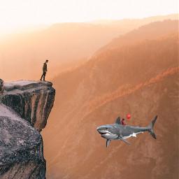 freetoedit shark tiburon cliff acantilado