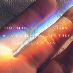 timeflies rainbow quote hand toiletpaper