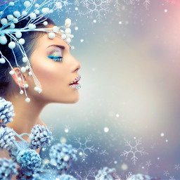 ice beauty woman backgrounds coldday