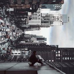 top view insane city look freetoedit