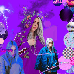 freetoedit billieeilish billieeilishedit purpleaesthetic purple
