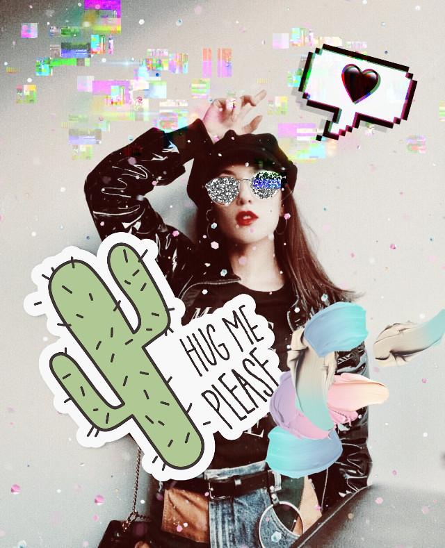 #freetoedit #girl #cactus #callout #interesting #pastelbrush #wildlife #glitch
