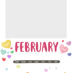 freetoedit february calendar remixit