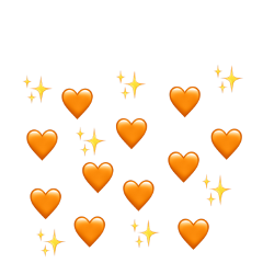 heaets sparkle orange heart love