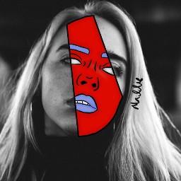 ecdoubleface doubleface freetoedit interesting art