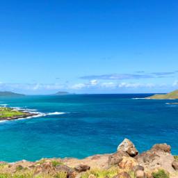 hawaii hike pacific ocean sea freetoedit
