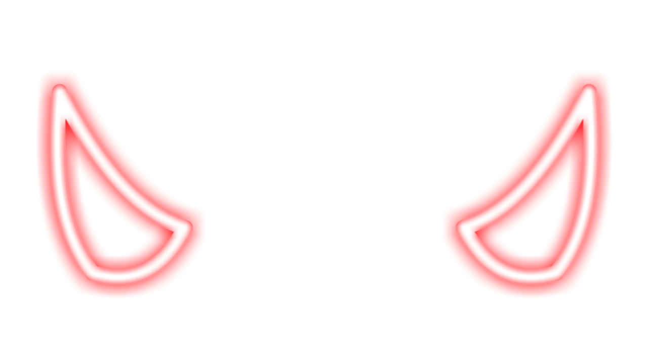 freetoedit devil demon demonic horn horns neon red devi...