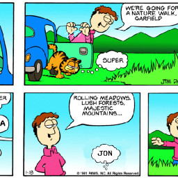 pacman garfield comic freetoedit