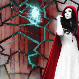red blue teal crystal fantasy freetoedit