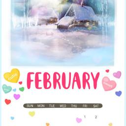 freetoedit dailyremixmechallenge february calendar winterscenery irchellofebruary