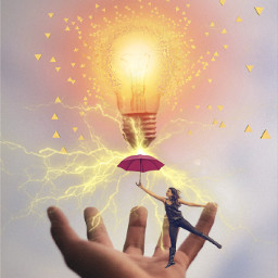 freetoedit lightbulb light electricity hand