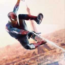 freetoedit spiderman city paris spiderweb ftestickers