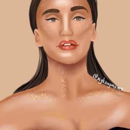 freetoedit glow portrait drawing art