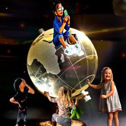 vipshoutout globe world kidsunited oneworld freetoedit