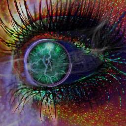 freetoedit eye eyeart eyemakeup green