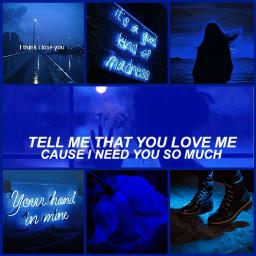 aesthetic blue love freetoedit