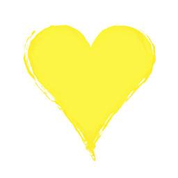 yellow heart valentines background