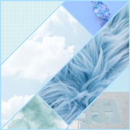 blue aesthetic colage freetoedit