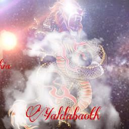sophia yaldabaoth serpent lionface lightning freetoedit