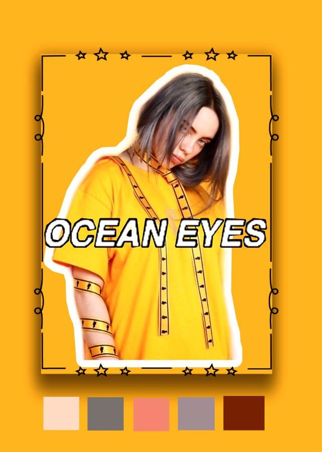 #freetoedit #Billieeilish #billie #eilish #oceaneyes #ocean #eyes #fanedit
