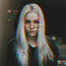 freetoedit girl glitch vhs vhseffect