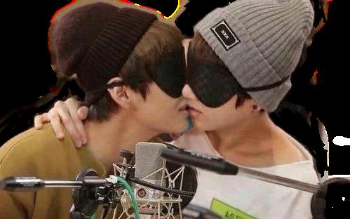 taekook jungkook taehyung bts vkook kiss jin hoseok nam