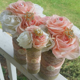 freetoedit wedding centerpieces flowers burlap