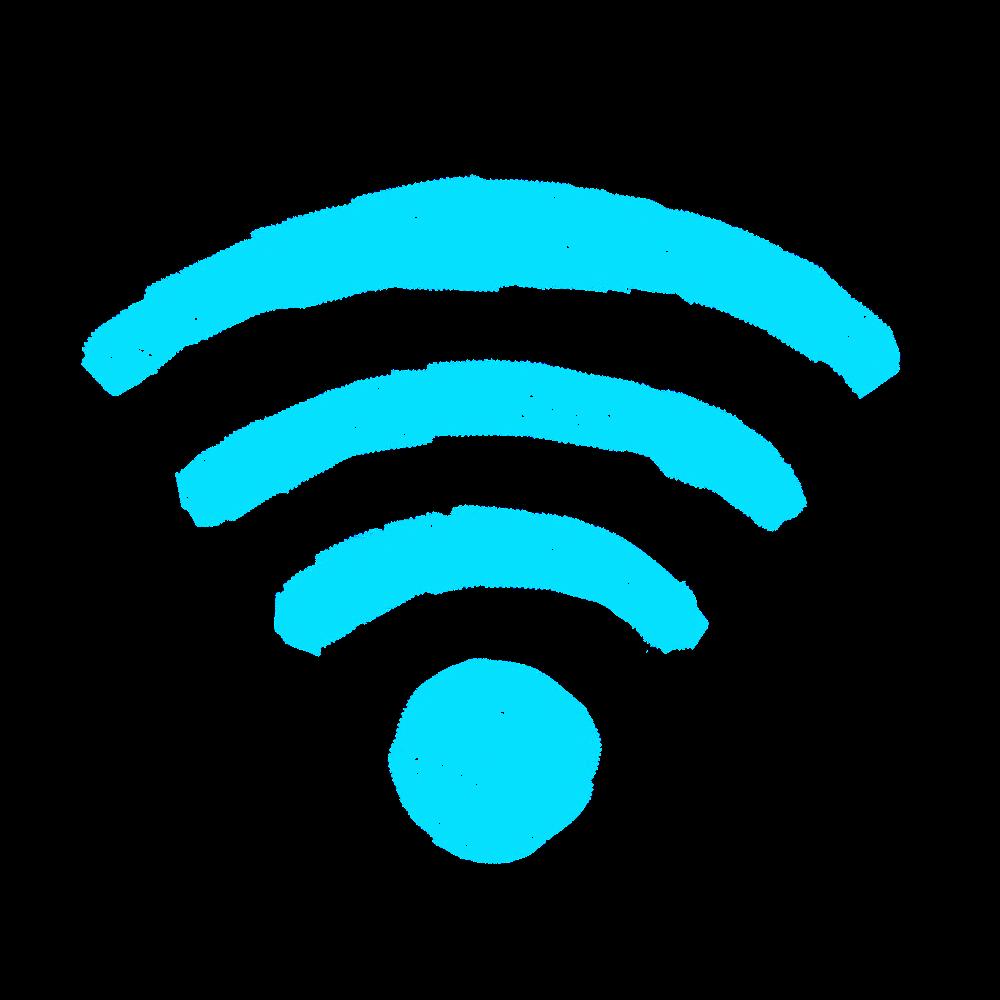 #networkstickers Wifi cyan (027)