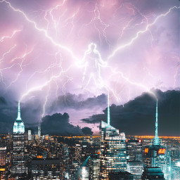 god thunder newyork night freetoedit