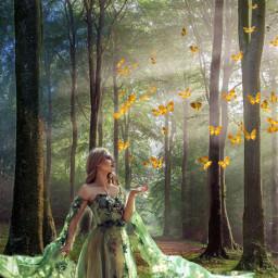 srcbutterflyeffect butterflyeffect freetoedit forestgirl forest