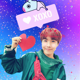 freetoedit btsjhope kpopfanart kpopedit valentinesday2019
