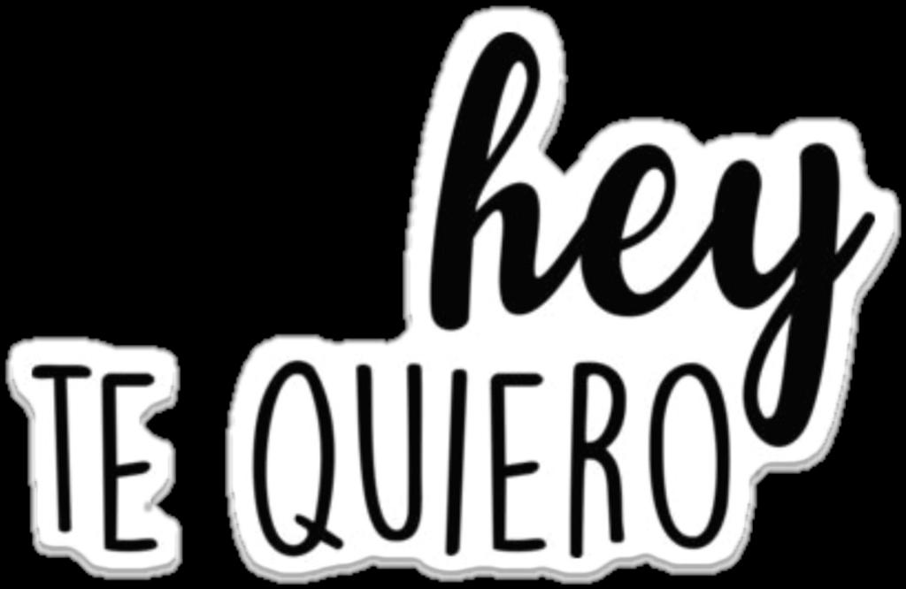 Stickers Con Frasi.Frase Quiero Espanol Amor Sticker By Zully Ceballos
