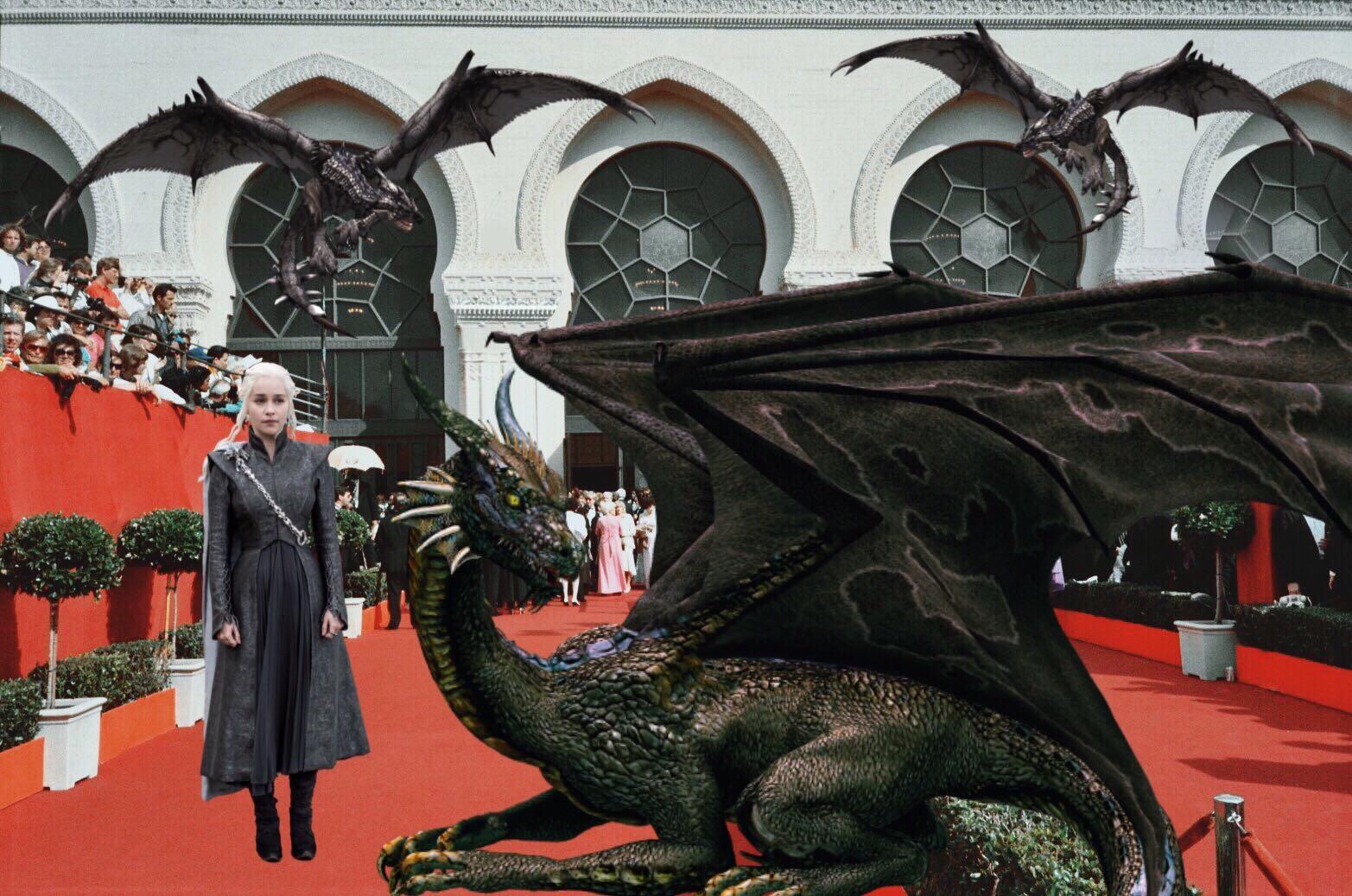 #redcarpet #khaleesi #gameofthrones #dragons