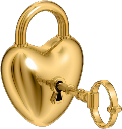 gold heart lock key freetoedit