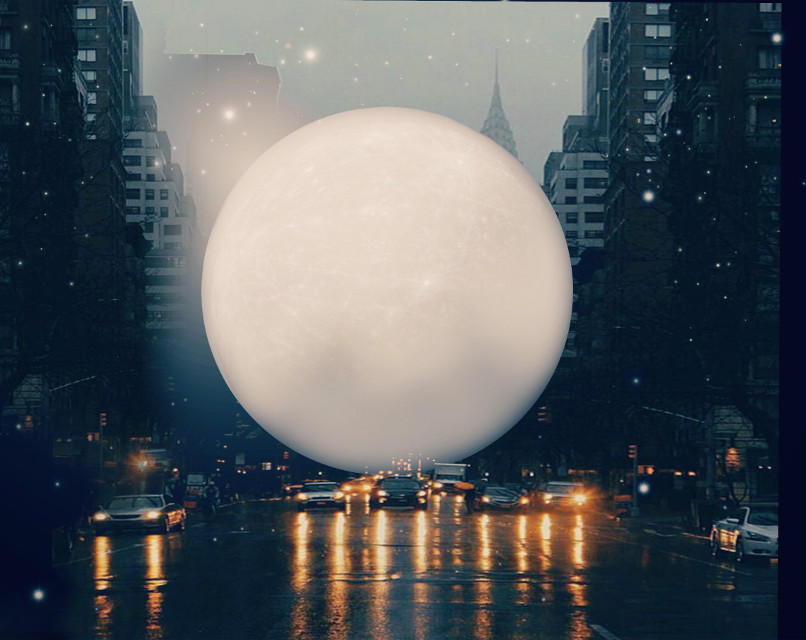 #freetoedit #fantasy #planet #road #cars #night #art