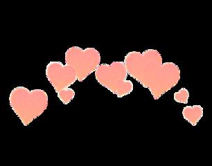 hearts peachy pink pinkhearts head freetoedit
