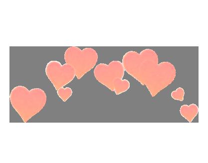 #hearts #peachy #pink #pinkhearts #head