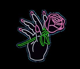 rose hand girl aesthetic black freetoedit