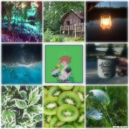green adventure tree space bubble freetoedit