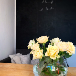 roses yellow kitchen relaxedandhappy chalkboard