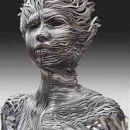 metallic sculpture freetoedit