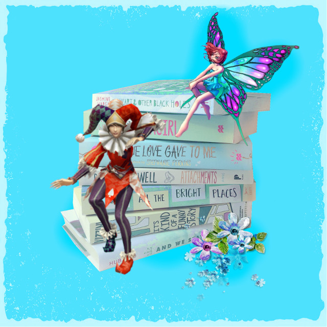 #freetoedit #books #butterfly #fantasy #clown #blue #madewithpicsart #editedbyme