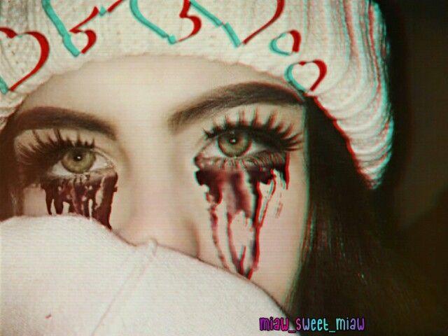 Eyes Crying Ojos Llorando Sangre Blood Glitch Vhs Vhsef