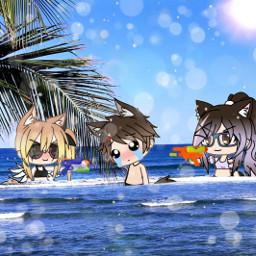 gacha gachalife freetoedit beach occhallange